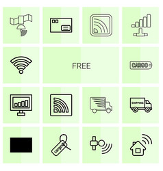 free icons vector image