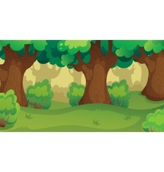Game Forest Oakwood Landscape vector