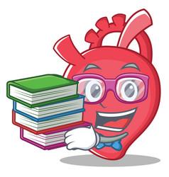 Geek heart character cartoon style vector