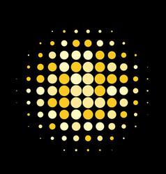 golden round halftone pattern design vector image