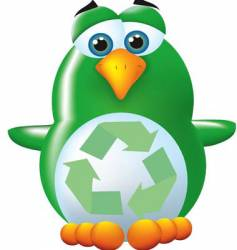green penguin vector image