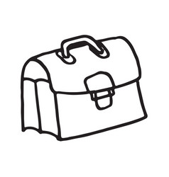 hand drawn doodle brief case vector image
