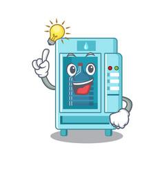Have an idea cartoon water vending machine on vector