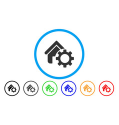 Homepage options gear rounded icon vector