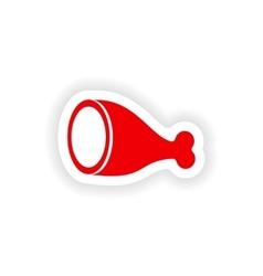 Icon sticker realistic design on paper ham vector