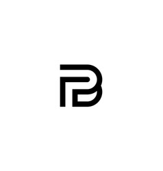 Initial p and b or f and b logo design concept vector