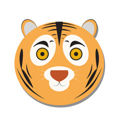 isolated tiger face vector image