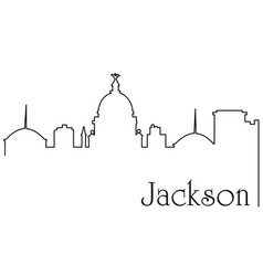 jackson city one line drawing vector image