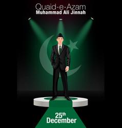 Karachi pakistan december 25 1876 quaid-e-azam vector
