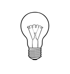 lamp shine coloring book vector image
