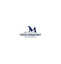 m massage logo design vector image