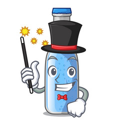 Magician bottle soda water isolated on mascot vector