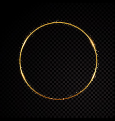 minimal circle frame isolated on black vector image