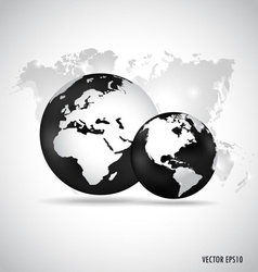 Modern globe with world map design background vector image