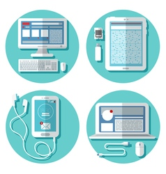 Modern Technology Laptop Computer Smartphone vector image