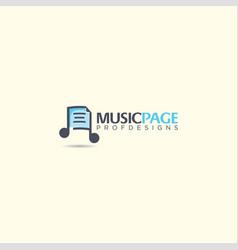 Music page note tone symbol logo icon art vector