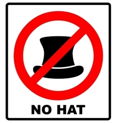 No top hat sign text in red vector