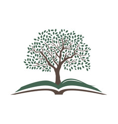 open book with beautiful tree vector image