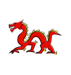 outline draw dragon vector image