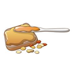 Peanut butter icon cartoon style vector