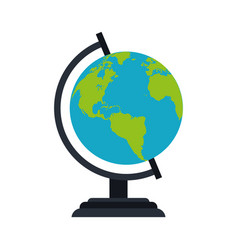 planet earth globe icon image vector image