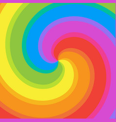 rainbow swirl background colorful bright rays of vector image