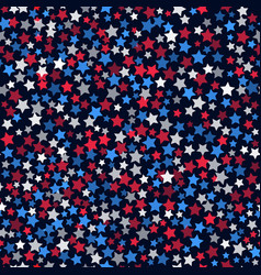Seamless pattern with white red and blue five vector