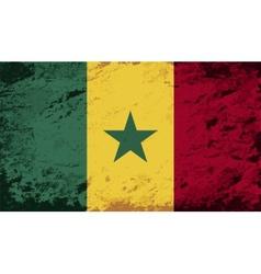 Senegalese flag Grunge background vector image vector image