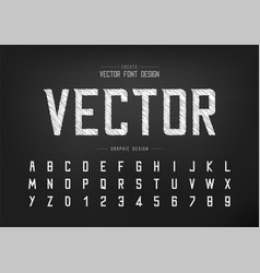 Sketch font and alphabet chalk modern typeface vector