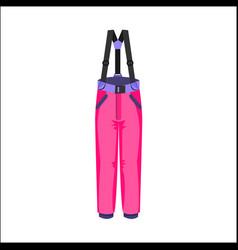 Skiing snowboarding feather pants winter sport vector