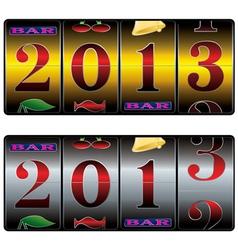 slot 2013 vector image vector image