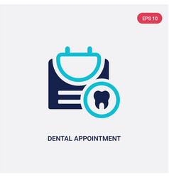 Two color dental appointment icon from dentist vector