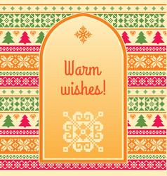 warm wishes christmas background vector image