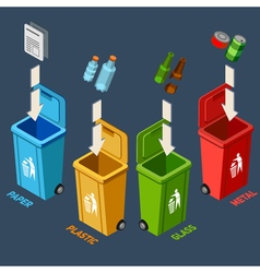 Waste Management Isometric Concept vector