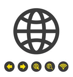 web icon on white background vector image