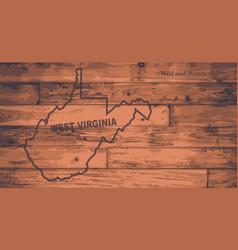 West virginia map brand vector