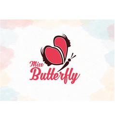 Women butterfly logo vector