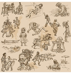 An hand drawn pack - PEOPLE vector image vector image