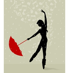 girl dances vector image vector image