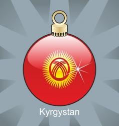 Kyrgyzstan bulb vector image