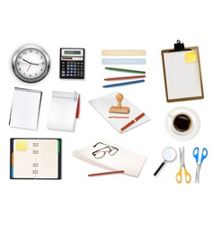 mega office supplies set3 vector image vector image