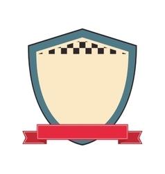 shield label banner design vector image