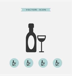 wine icon simple vector image