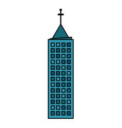 building town urban skyscraper vector image