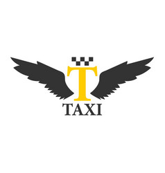 business class taxi logotype with abstract angel vector image vector image
