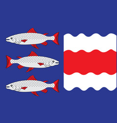 Flag of vasternorrland county in sweden vector