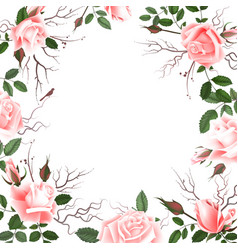 greeting card with roses watercolor can be used vector image vector image