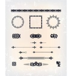 set of abstract arabesque pattern vector image