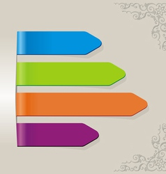 stick color brown vector image vector image