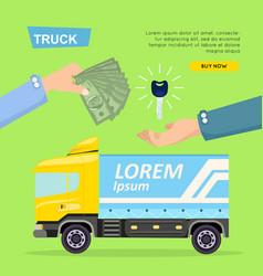 buying truck online car sale web banner vector image